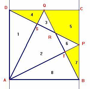 Nel caso in cui i punti P e Q sono punti medi dei lati BC e CD consideriamo  i triangoli ADQ 28640d50ee7e