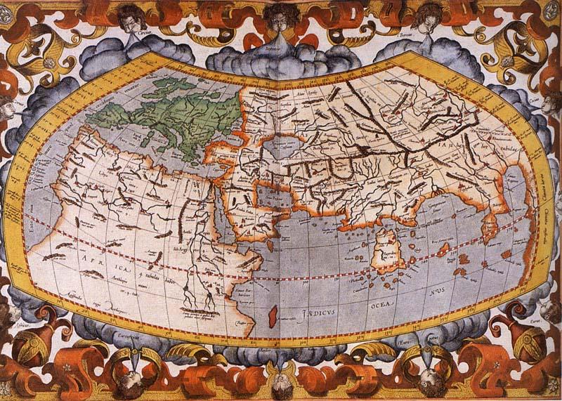 Cartina 1400.La Cartografia Di Tolomeo